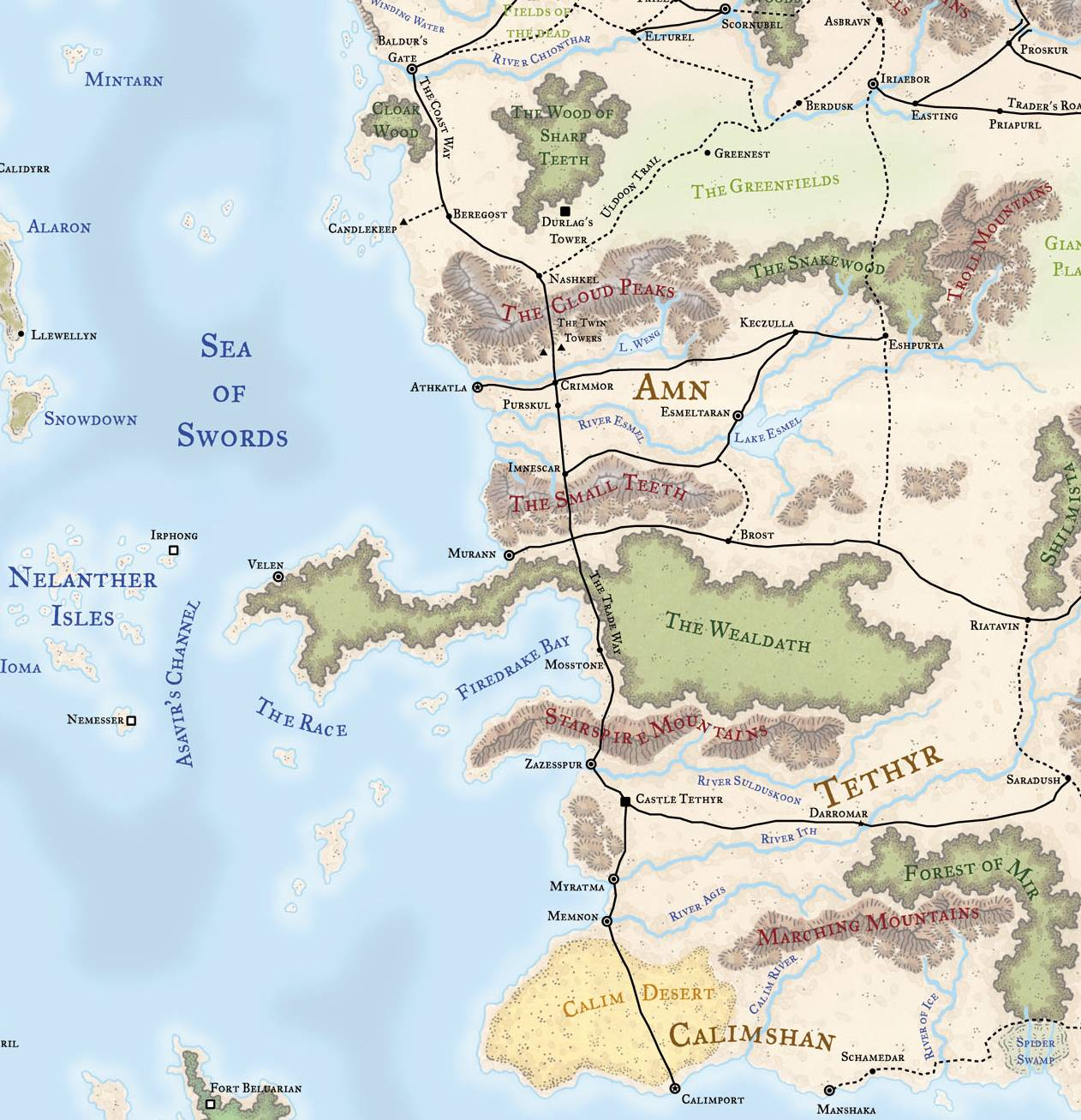 map of all faerun